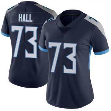 Women's Tennessee Titans A.T. Hall Navy Limited Vapor Untouchable Jersey By Nike