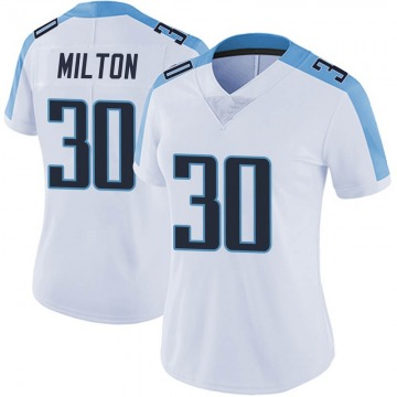 Women's Tennessee Titans Chris Milton White Limited Vapor Untouchable Jersey By Nike
