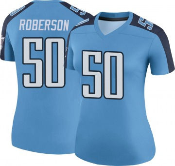 Women's Tennessee Titans Derick Roberson Light Blue Legend Color Rush Jersey By Nike