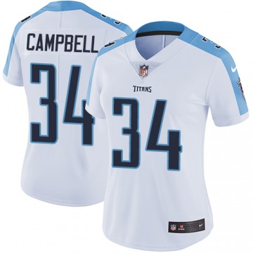 Women's Tennessee Titans Earl Campbell White Limited Jersey By Nike