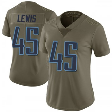 Women's Tennessee Titans LaTroy Lewis Green Limited 2017 Salute to Service Jersey By Nike