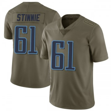 Youth Tennessee Titans Aaron Stinnie Green Limited 2017 Salute to Service Jersey By Nike