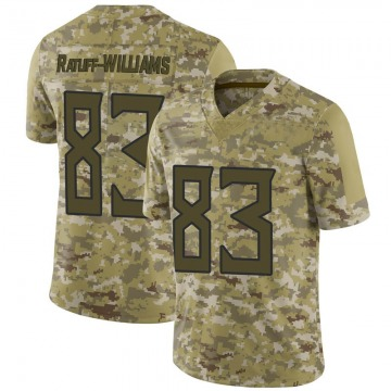 Youth Tennessee Titans Anthony Ratliff-Williams Camo Limited 2018 Salute to Service Jersey By Nike