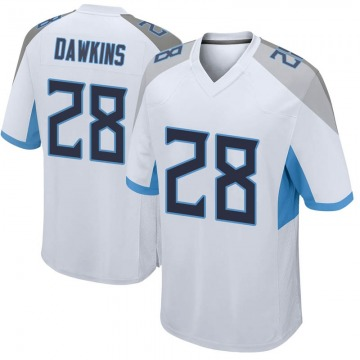 Youth Tennessee Titans Dalyn Dawkins White Game Jersey By Nike