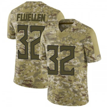 Youth Tennessee Titans David Fluellen Camo Limited 2018 Salute to Service Jersey By Nike