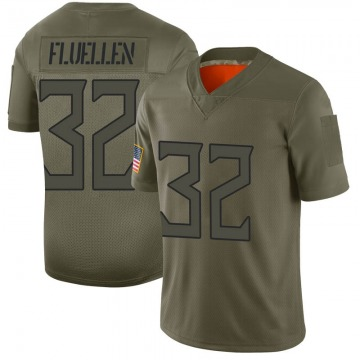 Youth Tennessee Titans David Fluellen Camo Limited 2019 Salute to Service Jersey By Nike