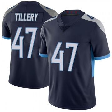 Youth Tennessee Titans JoJo Tillery Navy Limited 100th Vapor Untouchable Jersey By Nike
