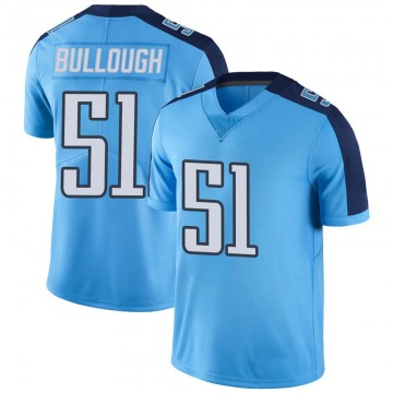 Youth Tennessee Titans Riley Bullough Light Blue Limited Color Rush Jersey By Nike