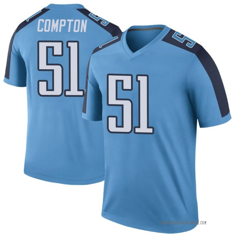 Youth Tennessee Titans Will Compton Light Blue Legend Color Rush Jersey By Nike